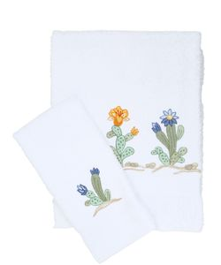 LORETTA CAPONI | Embroidered Cactus Towel Set