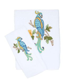 LORETTA CAPONI | Embroidered Parrots Towel Set