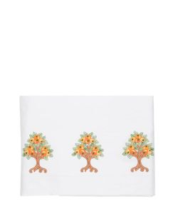 LORETTA CAPONI | Orange Tree Embroidered Sheet Set