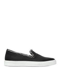 Louis Leeman | Chain Trim Braided Silk Slip-On Sneakers