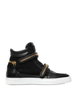 Louis Leeman | Zip Details Suede High Top Sneakers