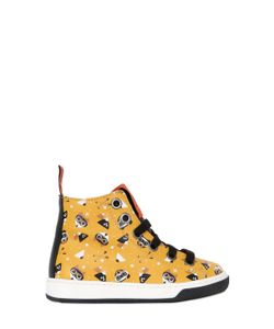 MAÁ | Animals Print Leather High Top Sneakers