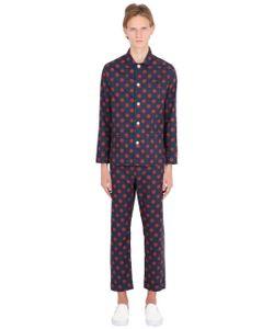 MAISON MARCY | Polka Dots Printed Cotton Pajama Set