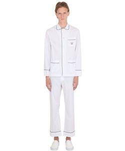 MAISON MARCY | Cotton Poplin Pajama Shirt And Pants