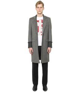 Maison Margiela | Faded Wool Herringbone Coat