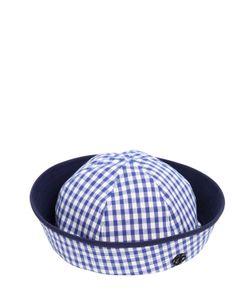 Maison Michel   Trey Cotton Gingham Hat
