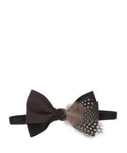 MANI DEL SUD | Feather Embellished Bow Tie