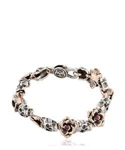 MANUEL BOZZI   Skulls Roses Bracelet
