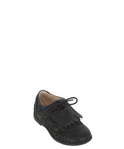 MANUELA DE JUAN | Leather Glittered Leather Shoes