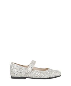MANUELA DE JUAN | Glittered Leather Ballerina Flats