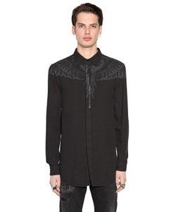 MARCELO BURLON COUNTY OF MILAN   Hoyada Printed Cotton Oxford Shirt