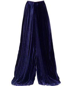 Marco De Vincenzo | Wide Pleated Velvet Pants
