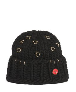 Maria Francesca Pepe | Wool Knit Beanie With Piercings