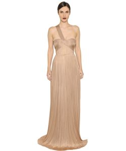 Maria Lucia Hohan | Imman Draped Pleated Silk Tulle Gown