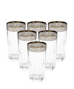 MARIO CIONI | Set Of 6 Crystal Highball Glasses