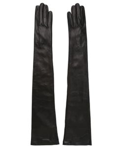 MARIO PORTOLANO | Long Nappa Leather Gloves