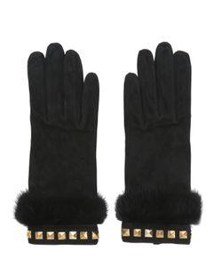 MARIO PORTOLANO | Suede Gloves With Mink Fur Studs