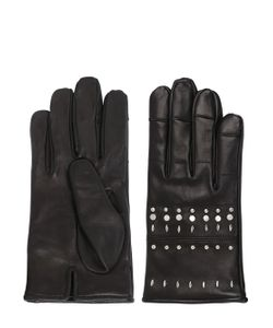 MARIO PORTOLANO | Studded Nappa Leather Gloves