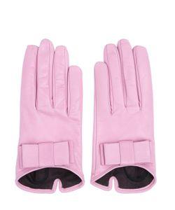MARIO PORTOLANO | Nappa Leather Gloves With Bow