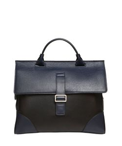 MARK GIUSTI | Two Tone Leather Briefcase