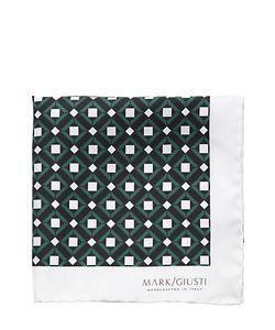 MARK GIUSTI | Printed Silk Twill Pocket Square