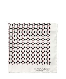 MARK GIUSTI | Printed Silk Twill Pocket Square