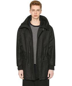 Marni | Hooded Shetland Wool Felt Parka Coat