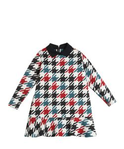MARNI JUNIOR | Houndstooth Print Jersey Neoprene Dress