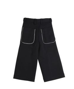 MARNI JUNIOR | Wool Blend Milano Jersey Cropped Pants
