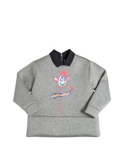 MARNI JUNIOR | Drawing Printed Neoprene Sweatshirt