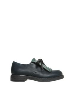 MARNI JUNIOR | Leather Lace-Up Shoes W/ Fringe