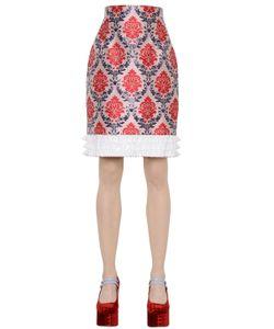 Mary Katrantzou | Damask Lurex Silk Jacquard Skirt