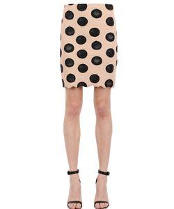 MARYSIA | Polka Dot Scalloped Hem Lycra Skirt
