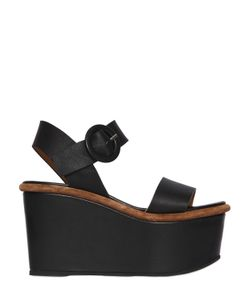 Massimo Lonardo | 100mm Leather Platform Sandals