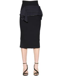 MATICEVSKI | Canvas Bow Cady Pencil Skirt