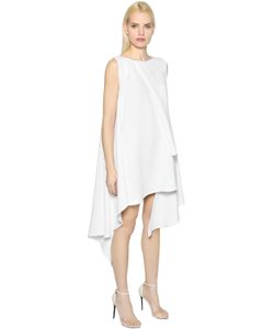 MATICEVSKI | Asymmetric Layered Fluid Crepe Dress