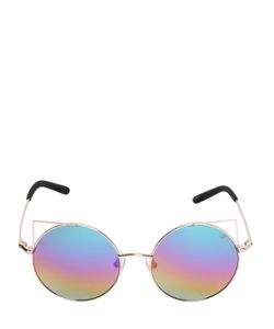 Matthew Williamson   Cat Ears Round Metal Sunglasses