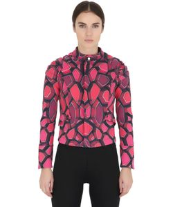 MAUNA KEA | Printed Soft Shell Biker Jacket