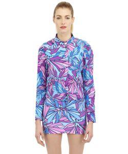MAUNA KEA | Hibiscus Techno Blend Jersey Moto Jacket