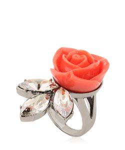 Mawi | Rose Crystal Leaf Ring