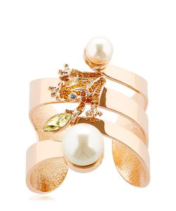 Mawi | Frog Cuff Bracelet With Imitation Pearls