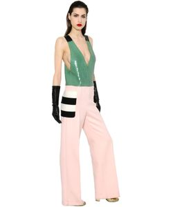 Max Mara | Sequin Felted Wool Jumpsuit