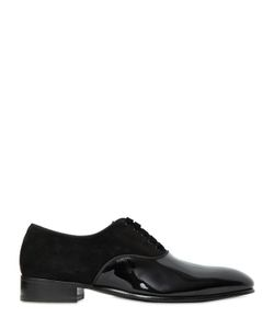 Maxverre | Suede Patent Leather Oxford Shoes