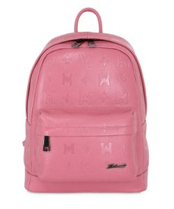 METROCITY | Logo Embossed Leather Backpack