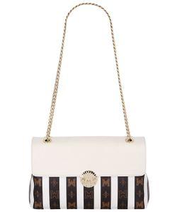 METROCITY | Striped Pvc Shoulder Bag W/Leather