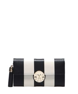 METROCITY | Striped Leather Clutch