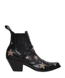 Mexicana | 65mm Leather Ankle Boots W/ Stars