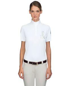 MIASUKI | Maddie High Collar Piqué Polo Shirt