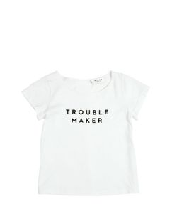 MILLY MINIS | Troublemaker Cotton Blend Jersey T-Shirt