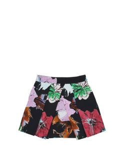 MILLY MINIS | Floral Print Cotton Blend Ottoman Skirt